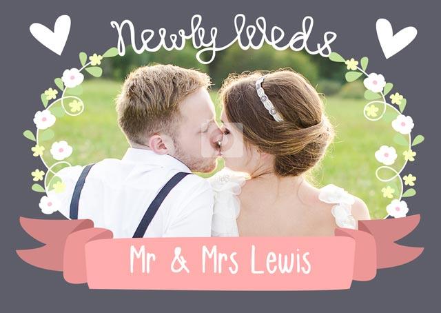 Create a Newly Weds Greeting Card