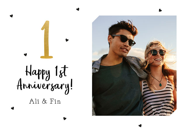Create a 1st Anniversary  Photo Card