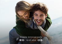 Create Anniversary Photo Card Date Card
