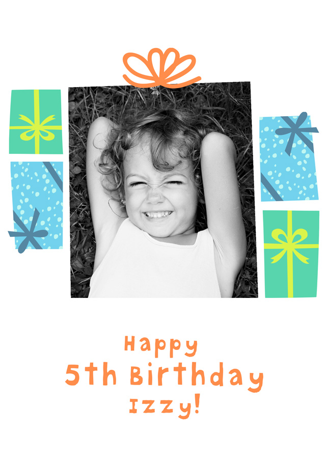 Create a Birthday Presents Photo Card