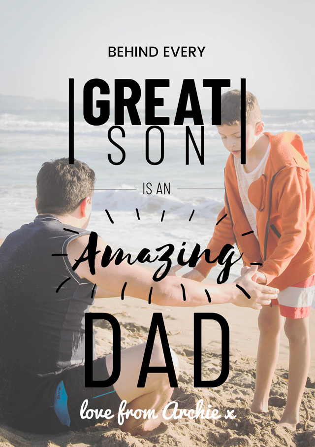 Create a Amazing Dad From Son Greeting Card
