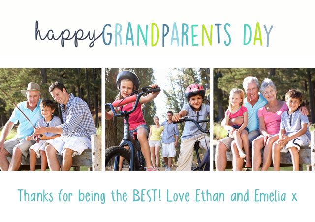 Create a Collage Grandparents Day Photo Card
