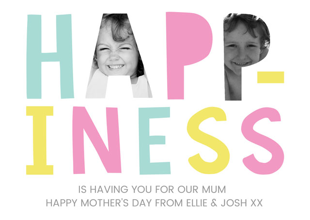 Create a Mother's Day Happiness Greeting Card
