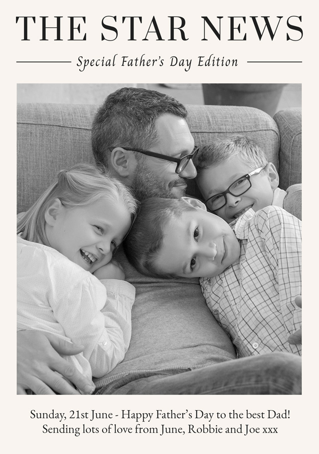 Photo Father's Day Card News