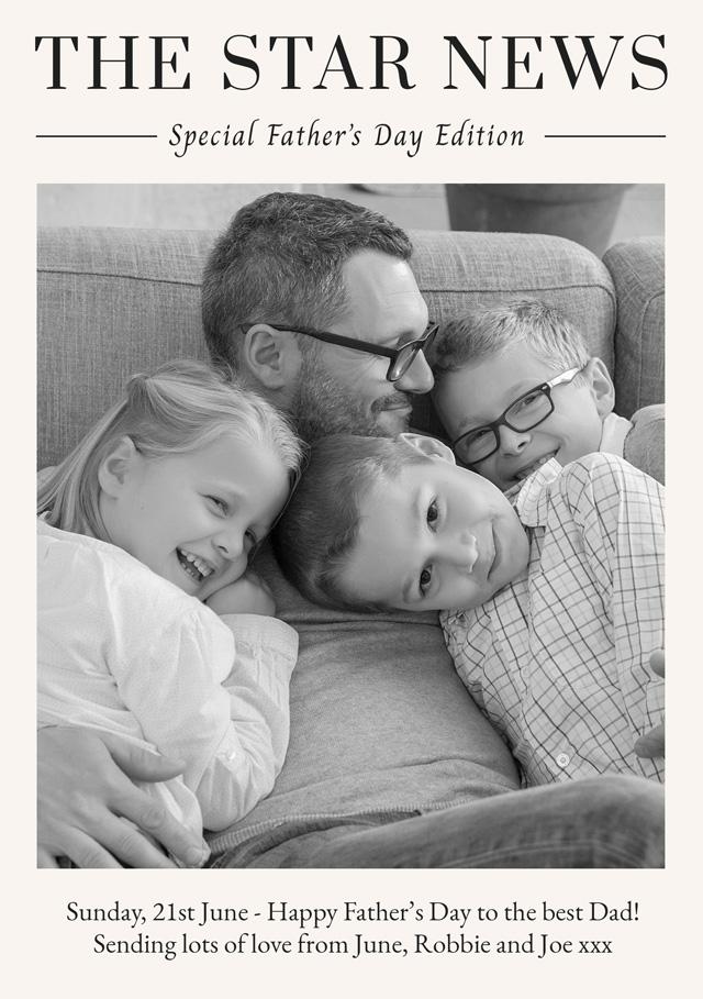 Create a Photo Father's Day Card News Photo Card