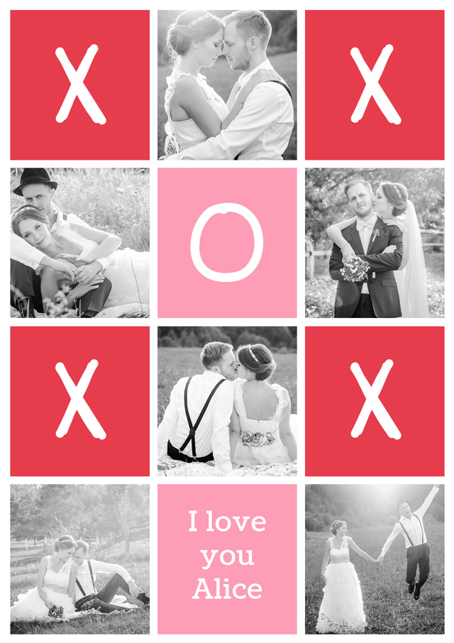 Create a Xoxo Collage Greeting Card