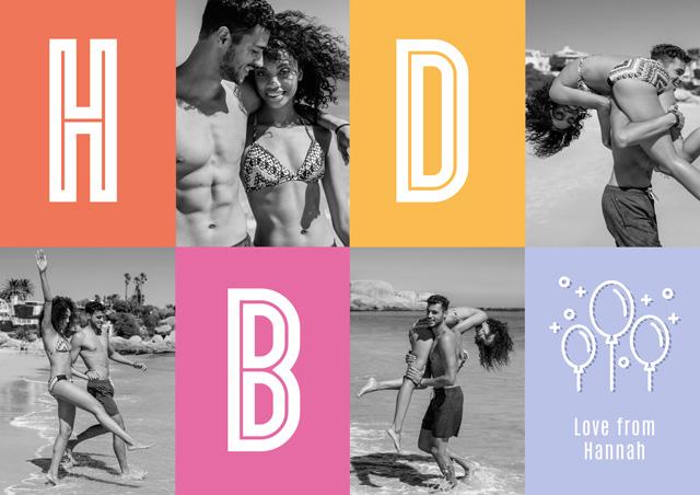 Create a Photo Birthday Card Collage Hbd Photo Card