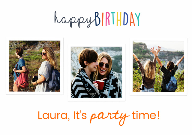 Create a Happy Birthday Collage Greeting Card
