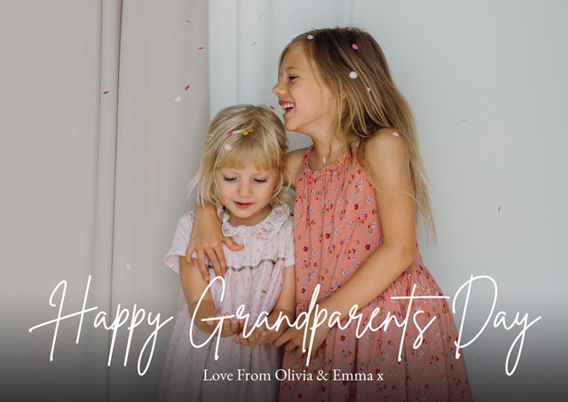 Create New Photo Card Grandparents Day   Design 1 Card