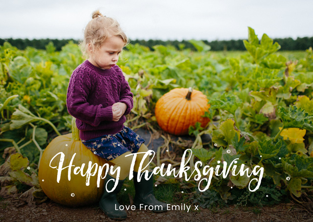 Create Landscape Thanksgiving Card Popular Script Card