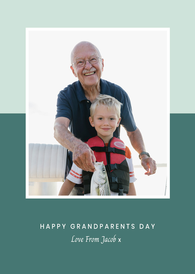 Create a New Photo Card Grandparents Day   Design 6 Photo Card