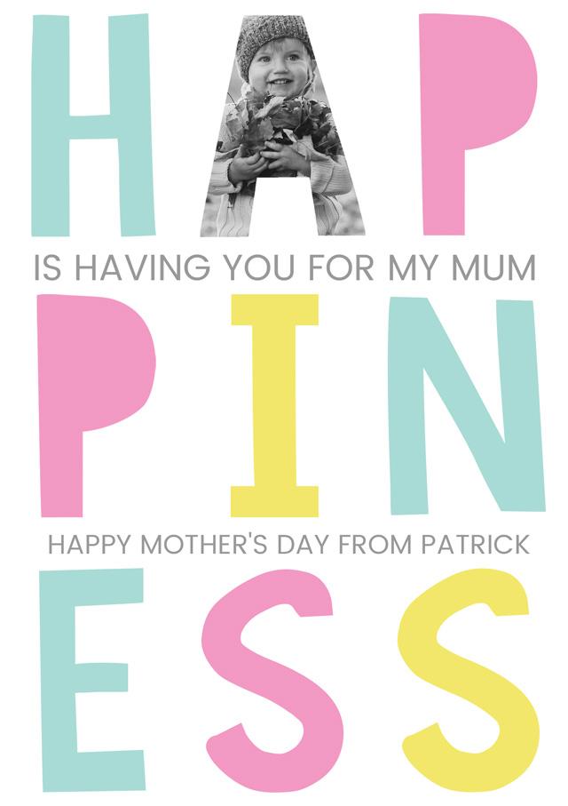 Create a Happiness Mum X1 Photo Card