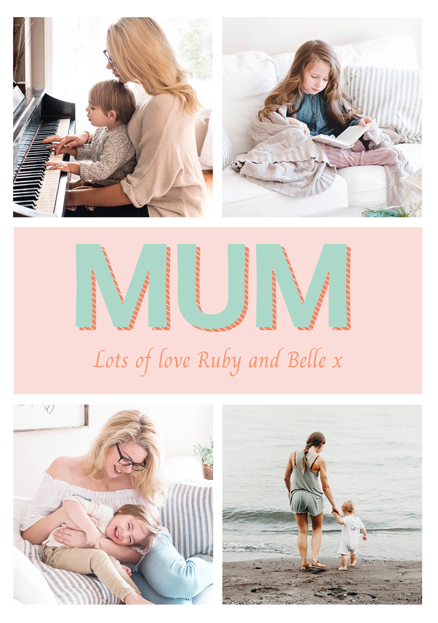 Photo Mother's Day Card Super Modern Mum Collage