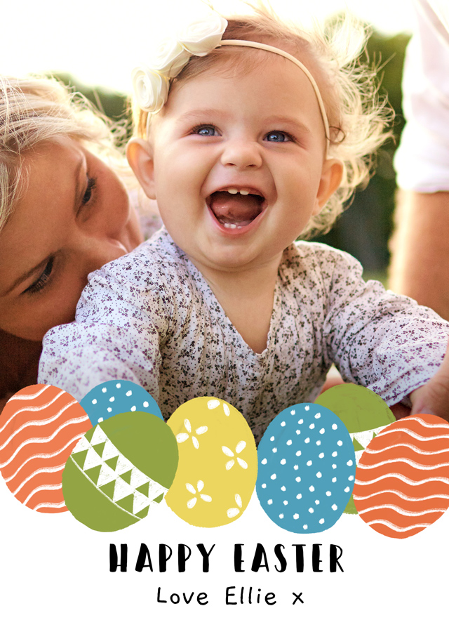 Create Photo Easter Card Easter Eggs Card